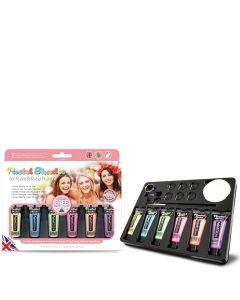PaintGlow Pastel UV Paint Box set 9pc 78mL Makeup Kit, Multicolor