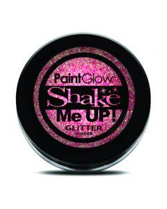 PaintGlow Shake Me Up Neon UV Reactive 4g Glitter Shaker, Champagne Pink