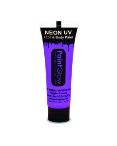 PaintGlow Neon UV Reactive Face & Body Paint 10ml Liquid Makeup, Violet