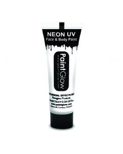 PaintGlow Neon UV Reactive Face & Body Paint 10ml Liquid Makeup, White