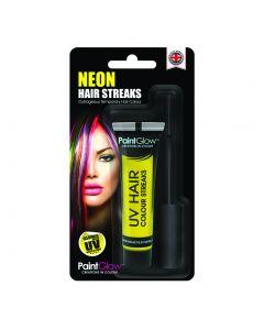 PaintGlow Blacklight UV Neon Streaks 15ml Temporary Hair Color, Yellow