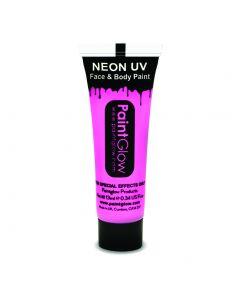 PaintGlow Neon UV Reactive Face & Body Paint 10ml Liquid Makeup, Baby Pink