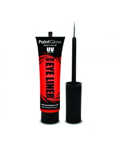 PaintGlow UV Reactive Neon Liquid Makeup 15ml Eye Liner, Red