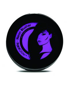 PaintGlow UV Reactive Neon Glow Compact Powder 3.5g Blusher, Violet