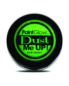 PaintGlow Dust Me Up Neon Glow UV Reactive 5g Eye Dust, Green