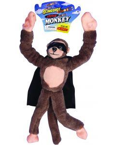 Playmaker Toys Flingshot Screaming Flying Monkey 10 in Plush Toy, Brown Black