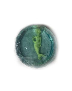 "Glittering Mermaid Putty Slime Stocking Stuffer 2.5"" Novelty Toy, Blue Green"