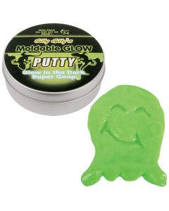 Playmaker Toys Moldable Glow Ghost Goop Putty 2 oz Novelty Toy, Green