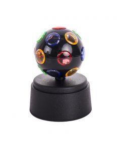 "Playmaker Toys Mini Rainbow Light Disco Ball 5"" LED Decoration, Black Green Blue"