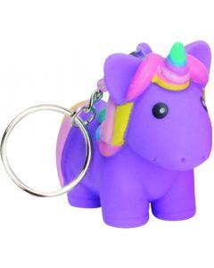"Squeeze N' Poop Glitter Squishy Unicorn Magical Toy 3"" Keychain, Purple"
