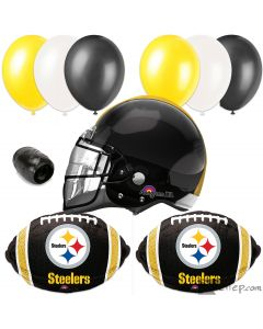 Pittsburgh Steelers Helmet Playoffs Football Party Decorating 10pc Balloon Pack