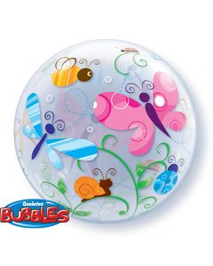 "Qualatex Colorful Summer Garden Bugs & Insects 22"" Bubble Balloon"
