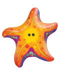 """Qualatex Super Tropical Sea Star Fish Giant 30"""" Foil Balloon, Orange"""