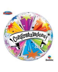 "Qualatex Giant Congratulations Graduation Banner Blast 22"" Bubble Balloon"