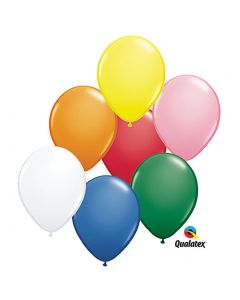 """Standard Color Solid Over-sized 16"""" Latex Balloons, Assorted Colors, 50 CT"""