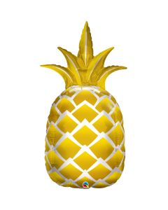 "Qualatex Luau Luxe The Golden Pineapple Summer  44"" Jumbo Foil Balloon, Gold"