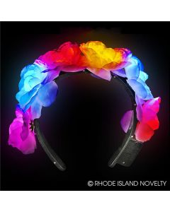 Rinco Light Up Flower Headband Headband, Pink White, One Size