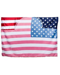 """Rinco Satin American USA Flag Cape, Red White Blue, One Size (40""""x60"""")"""