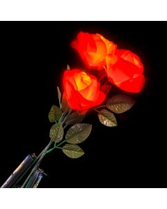 Rinco Valentines Day Light Up Rose 19in LED Accessory, Single, Red