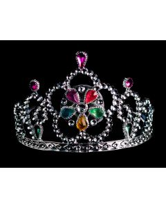 "Light Up Princess Jewel Tiaras, Silver Multi, One Size 5"", 12 Pack"