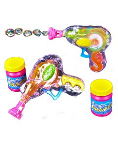 """Light-Up Colorful Flashing Party 4.75"""" LED Bubble Gun, 12 Pack"""