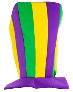 Mardi Gras Tri-Color Oversized Stovepipe Hat One Size - Party Wear