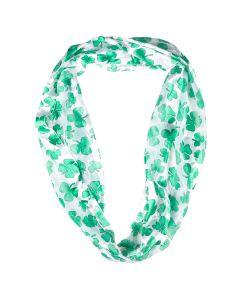St. Patricks Infinity Scarf Infinity Scarf, White Green, One Size