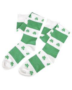 Rinco St. Patrick Day Party Shamrock Socks, Green White, One Size, 12 Pairs