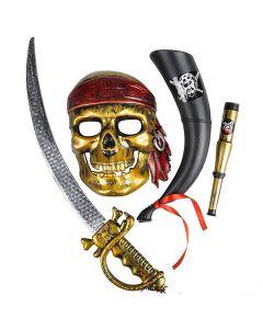 Rinco Brave Pirate Explorer 4pc Costume Accessory Set, One Size