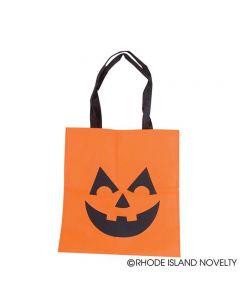 Rinco Halloween Jack-O Lantern 15in Trick or Treat Tote, Orange Black