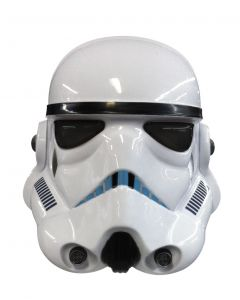 Classic Star Wars Stormtrooper Deluxe 2pc Over Head Mask, White Black, One Size