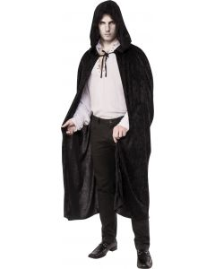Rubies Halloween Vampire Witch Velvet Hooded Cape, Black, One Size
