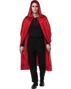 Rubies Halloween Red Riding Hooded Velvet Cape, Red, One Size