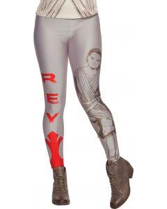 Rubies Halloween Star Wars The Force Awakens Rey Leggings, Grey Red, One Size