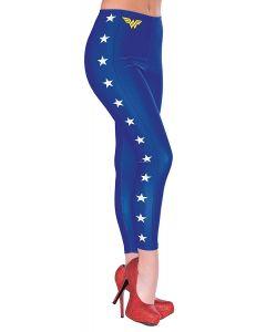 Rubies Halloween DC Comics Wonder Woman Sexy Leggings, Blue White, One Size