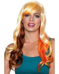 Rubies Halloween Long Wavy Fancy Bangs Wig, Blonde Brown, One Size