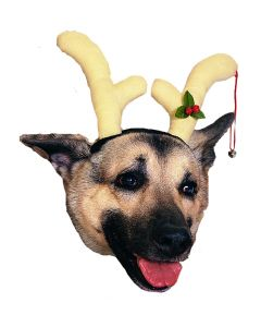 Rubies Reindeer Christmas Dog Antlers Accessory Headpiece, One-Size