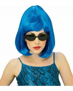 Rubies Halloween Fashion Starlet Bob Adult Wig, Blue, One Size