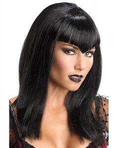 Rubies Halloween Glitter Dracula Vampire Wig, Black, One Size