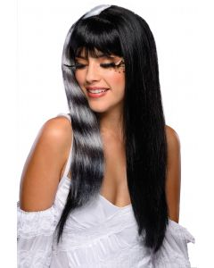 Rubies Halloween Sexy Kitty Cat Striped Adult Wig, Black White, One Size