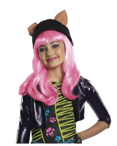 Rubies Monster High Howleen Wig - Child Wig, Pink Black Beige, One Size