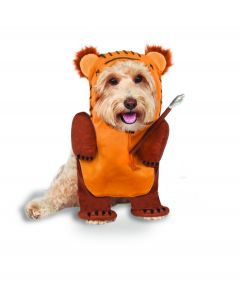 Rubies Halloween Star Wars Running Ewok Pet Costume, Brown Orange, Medium