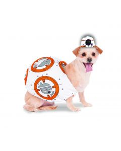 Rubies Halloween Star Wars BB-8 Plush 2pc Pet Costume, White Orange, X-Small