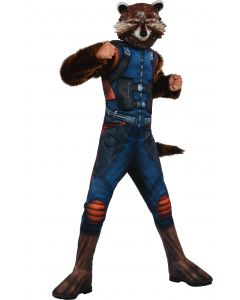 Rubies Marvel GOTG Deluxe Rocket Raccoon 2pc Boy Costume, Blue, Small