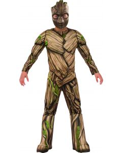 Marvel Guardians of the Galaxy Deluxe Groot 2pc Boy Costume, Brown Green, Small