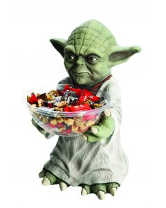 "Star Wars Yoda Halloween 2pc 18"" Trick or Treat Candy Bowl & Holder, Green"