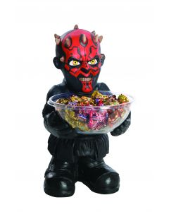 Star Wars Darth Maul Halloween Trick or Treat Candy Bowl & Holder, Red Black