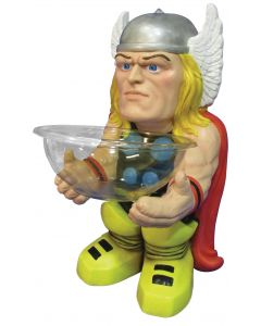 "Marvel Comics Thor Halloween 2pc 18"" Trick or Treat Candy Bowl & Holder, Yellow"