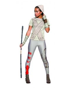 Rubies Star Wars The Force Awakens Rey T-Shirt 2pc T-Shirt Costume, White, Large
