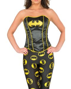 Rubies Batman DC Super Hero Girls Batgirl Corset, Black Yellow, Small/Medium